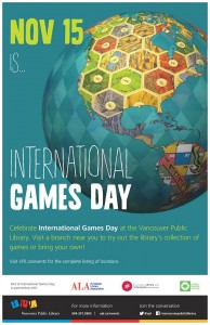 International Games Day at your local libraries